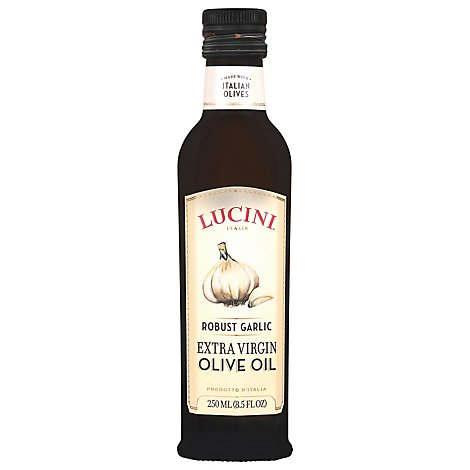 Lucini Oil Olive Extra Virgin Robust Garlic - 8.5 Fl. Oz.