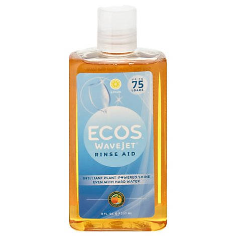 ECOS WaveJet Rinse Aid Lemon Bottle - 8 Fl. Oz.
