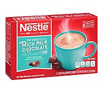 Nestle Cocoa Mix Hot Fat Free Rich Milk Chocolate Flavor - 8-0.28 Oz