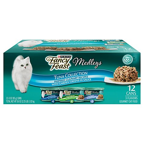 Fancy Feast Cat Food Wet Medleys Variety Pack - 12-3 Oz