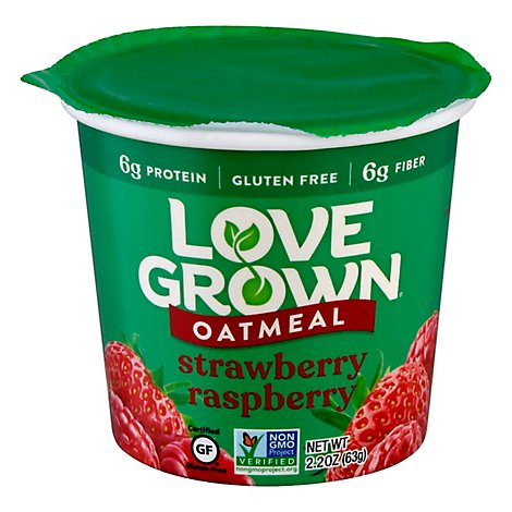 Love Grown Oats Hot Strawberry Raspberry - 2.22 Oz