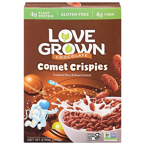 Love Grown Kid Cereal Comet Crispies Chocolate - 9.5 Oz