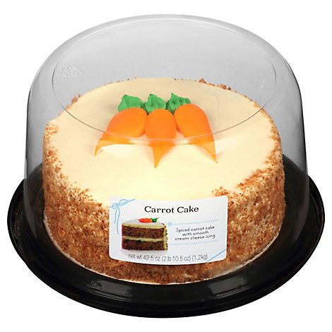 Cake 2 Layer Carrot Cream Cheese Icing - Each