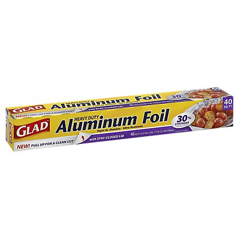 Glad Aluminum Foil Hvy Duty - 40 Sq. Ft.
