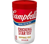 Campbells Soup Soup on the Go Chicken & Star Shaped Pasta - 10.75 Oz