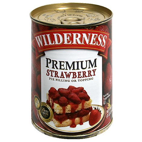 Duncan Hines Wilderness Pie Filling & Topping Strawberry Premium - 21 Oz