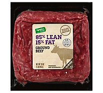 Stones Beef Ground Beef Brick Pack 85% Lean 15% Fat - 16 Oz
