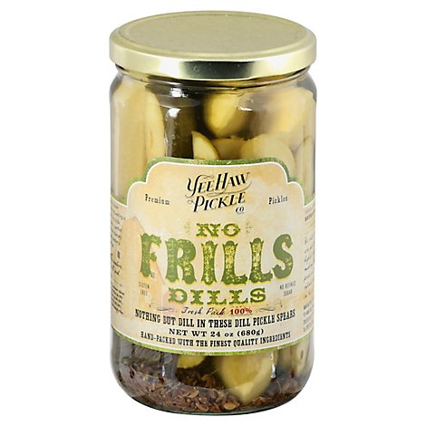 Yee-Haw Pickle Co. Pickles Dills No Frills - 24 Oz