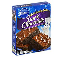 Pillsbury Brownie Mix Dark Chocolate Family Size - 18.4 Oz