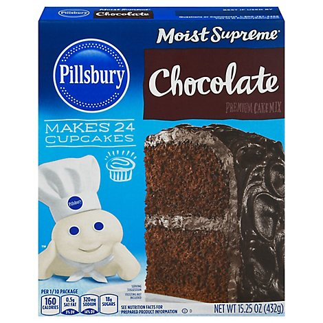 Pillsbury Moist Supreme Cake Mix Premium Chocolate - 15.25 Oz
