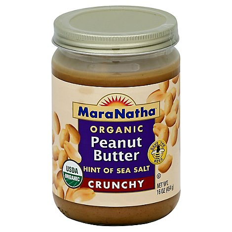 MaraNatha Peanut Butter Crunchy Organic Hint of Sea Salt - 16 Oz
