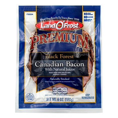 Land O Frost Black Forest Canadian Bacon - 6 Oz