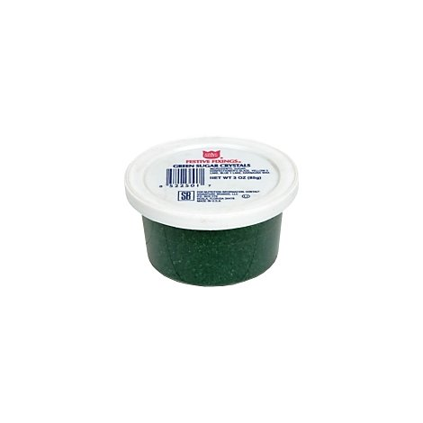 Cake Mate Decorating Decors Sugar Crystals Green - 3 Oz