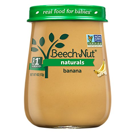 Beech-Nut Naturals Baby Food Stage 1 Banana - 4 Oz
