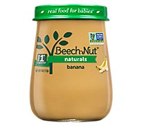 Beech-Nut Baby Food Naturals Stage 1 Bananas Jar - 4 Oz