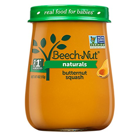 Beech-Nut Naturals Baby Food Stage 1 Butternut Squash - 4 Oz