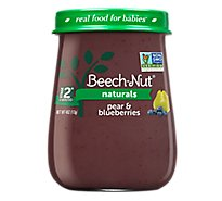 Beech Nut Naturals Baby Food Stage 2 Pear & Blueberries - 4 Oz