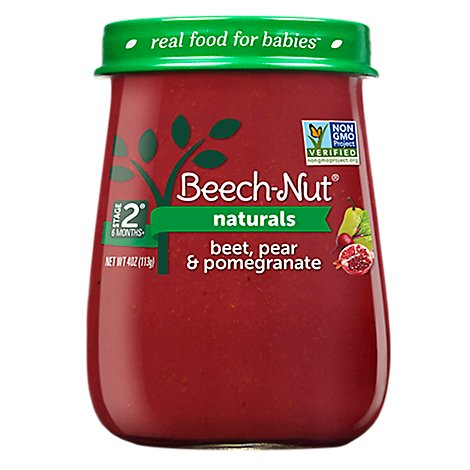 Beech-Nut Naturals Baby Food Stage 2 Beet Pear And Pomegranate - 4 Oz
