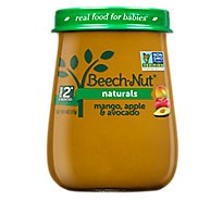 Beech-Nut Baby Food Naturals Stage 2 Just Mango Apple & Avocado Jar - 4 Oz
