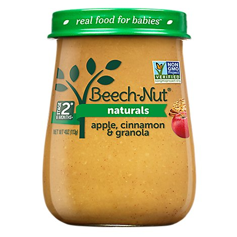 Beech-Nut Baby Food Naturals Stage 2 Apple Cinnamon & Granola Jar - 4 Oz