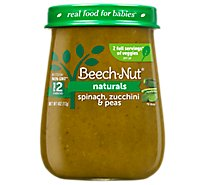 Beech Nut Naturals Baby Food Stage 2 Spinach Zucchini And Peas - 4 Oz