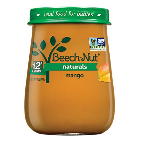 Beech Nut Naturals Baby Food Stage 2 Mango - 4 Oz
