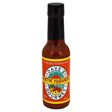 Daves Gourmet Sauce Hot Hurtin Habanero - 5 Oz