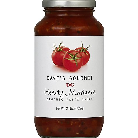 Daves Gourmet Pasta Sauce Organic Hearty Marinara Jar - 25.5 Oz