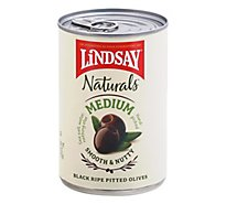 Lindsay Naturals Olives Black Pitted Ripe California Medium - 6 Oz