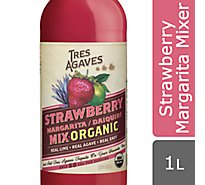 Tres Agaves Strawberry Mixer - 1 Liter