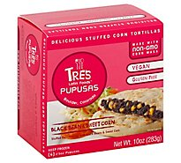 Tres Latin Foods Black Bean & Sweet Corn Pupusas - 4-2.5 Oz
