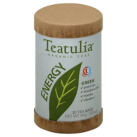 Teatulia Energy Green Tea Organic - 30 Count