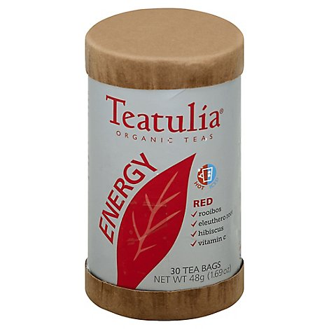 Teatulia Energy Red Tea Organic - 30 Count