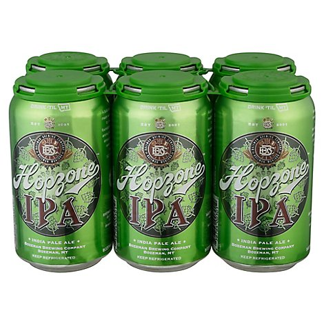 Bozone Hopzone Ipa In Bottles - 6-12 Fl. Oz.