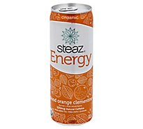 steaz Energy Green Tea Organic Orange - 12 Fl. Oz.