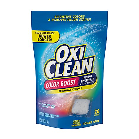 OxiClean 2in1 Stain Fighter Plus Color Safe Brightener Power Paks 26 Count - 22.9 Oz