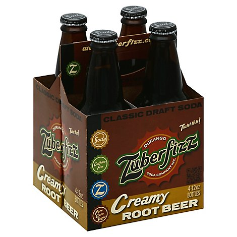 Zuberfizz Creamy Root Beer - 4-12 Fl. Oz.