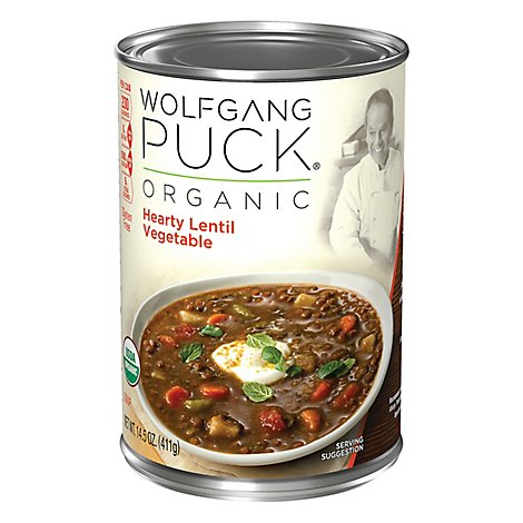 Wolfgang Puck Soup Organic Hearty Lentil Vegetable - 14.5 Oz