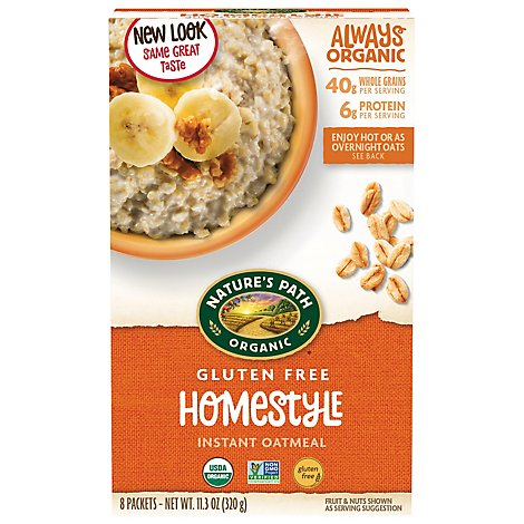 Natures Path Organic Oatmeal Gluten Free Homestyle - 11.3 Oz