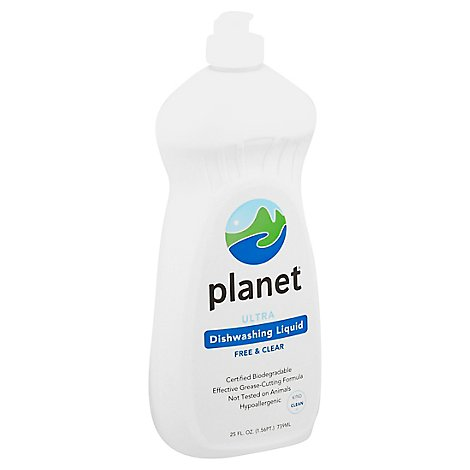 Planet Dishwashing Liquid Ultra Free & Clear - 25 Fl. Oz.