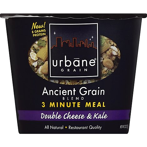 Urbane Grain 3 Minute Meal Ancient Grain Blend Double Cheese & Kale Cup - 2 Oz