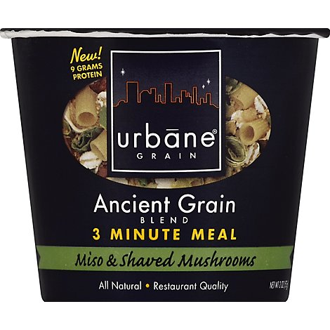 Urbane Grain 3 Minute Meal Ancient Grain Blend Miso & Shaved Mushrooms Cup - 2 Oz