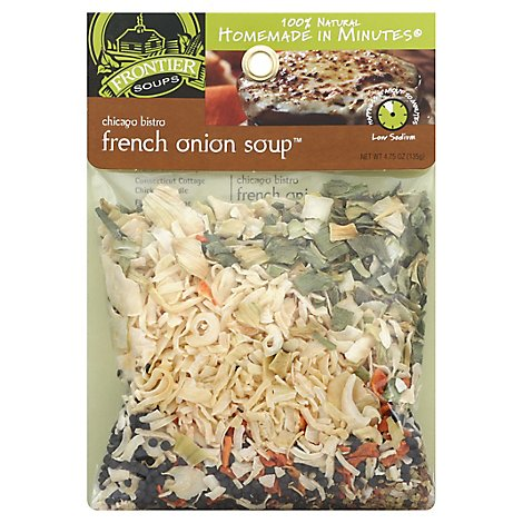 Frontier Soups Soup Mix Homemade In Minutes Gluten Free Chicago Bistro French Onion - 4.75 Oz