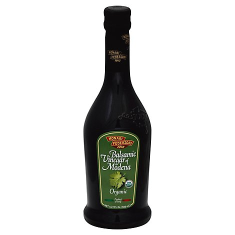 Monari Federzoni Organic Vinegar Balsamic Vinegar of Modena - 16.9 Fl. Oz.
