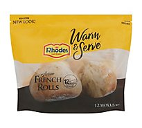 Rhodes Warm N Serv White Rolls Artisan French Rolls 12 Count - 22.8 Oz