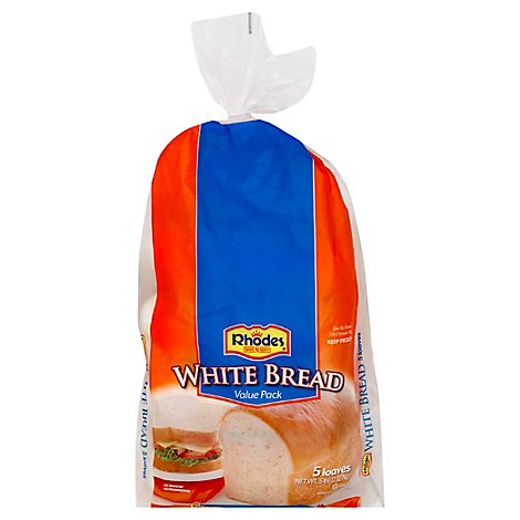 Rhodes White Bread Dough - 5-16 Oz