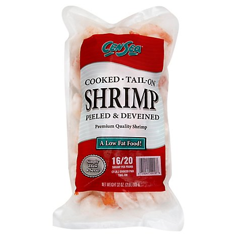 Shrimp Cooked 16-20 Ct T-On Frozen - 32 Oz