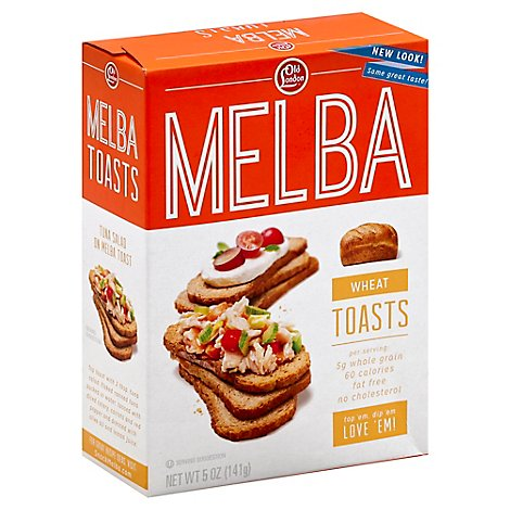 Old London Melba Toasts Wheat - 5 Oz