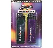 Scripto Lighter Mghty Match - 2 Count