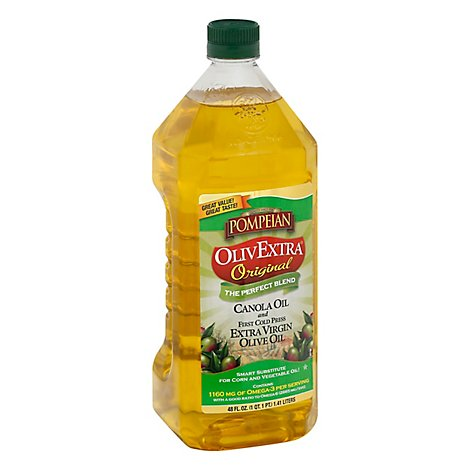 Pompeian OlivExtra The Perfect Blend Olive Oil Extra Virgin And Canola Oil - 48 Fl. Oz.